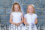 Molly Gaynor and Lucy McCarthy who received their First Holy Communion in KIlmoyley on Saturday.