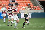 HOUSTON, TX - DECEMBER 11:  Sam Raben (26) of Wake Forest University wins the ball from Foster Langsdorf (2) of Stanford University during the Division I Men's Soccer Championship held at the BBVA Compass Stadium on December 11, 2016 in Houston, Texas.  Stanford defeated Wake Forest 1-0 in a penalty shootout for the national title. (Photo by Justin Tafoya/NCAA Photos via Getty Images)