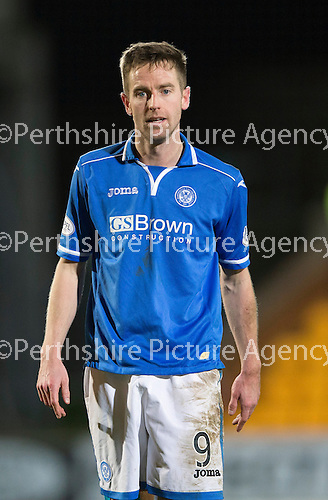 St Johnstone v Motherwell....25.02.14    SPFL<br /> Steven MacLean<br /> Picture by Graeme Hart.<br /> Copyright Perthshire Picture Agency<br /> Tel: 01738 623350  Mobile: 07990 594431