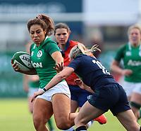 2nd February 2020; Energia Park, Dublin, Leinster, Ireland; International Womens Rugby, Six Nations, Ireland versus Scotland; Sene Naoupu (Ireland) hands off a tackle from Chloe Rollie (Scotland)