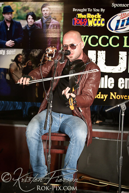 HURT perform private acoustic show for WCCC fans at Up Or On The Rocks in Hartford, Connecticut on November 15, 2012