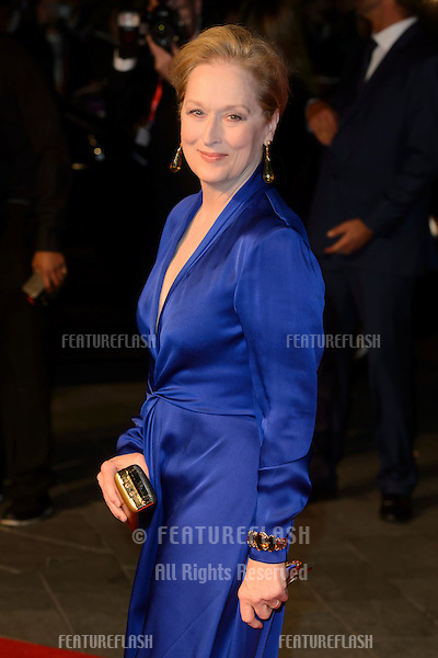 Meryl Streep at the BFI London Film Festival premiere of &quot;Suffragette&quot; at the Odeon Leicester Square, London.<br /> October 7, 2015  London, UK<br /> Picture: Dave Norton / Featureflash