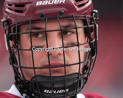 Chris Shero (BC - 23) - The Boston College Eagles practiced at Fenway on Friday, January 6, 2017, in Boston, Massachusetts.