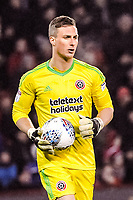 Sheffield United's goalkeeper Simon Moore (1) during the Sky Bet Championship match between Sheff United and Cardiff City at Bramall Lane, Sheffield, England on 2 April 2018. Photo by Stephen Buckley / PRiME Media Images.