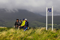 Four Ladies watching the play from the 6th tee during Matchplay Semi-Finals of the Women's Amateur Championship at Royal County Down Golf Club in Newcastle Co. Down on Saturday 15th June 2019.<br /> Picture:  Thos Caffrey / www.golffile.ie