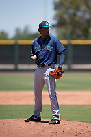 Seattle Mariners relief pitcher Jose Canela (30) during an Extended Spring Training game against the San Francisco Giants Orange at the San Francisco Giants Training Complex on May 28, 2018 in Scottsdale, Arizona. (Zachary Lucy/Four Seam Images)
