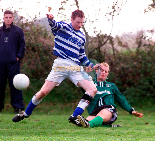 Don Thornton in action for Albion Rovers against Slane Wanderers at Mmonasterboice..Picture: Paul Mohan/Newsfile