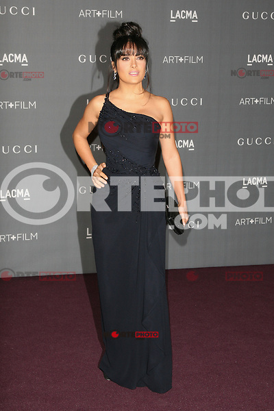 LOS ANGELES, CA - OCTOBER 27: Salma Hayek at the LACMA 2012 Art + Film Gala Honoring Ed Ruscha and Stanley Kubrick presented by Gucci at LACMA on October 27, 2012 in Los Angeles, California. Credit: mpi27/MediaPunch Inc. /NortePhoto .<br /> ©NortePhoto