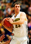 30 January 2010: University of Vermont Catamount forward Garrett Kissel, a Junior from Springfield, MA, in action against the University at Albany Great Danes at Patrick Gymnasium in Burlington, Vermont. The Catamounts defeated the Danes 64-46 in the America East matchup. Mandatory Credit: Ed Wolfstein Photo