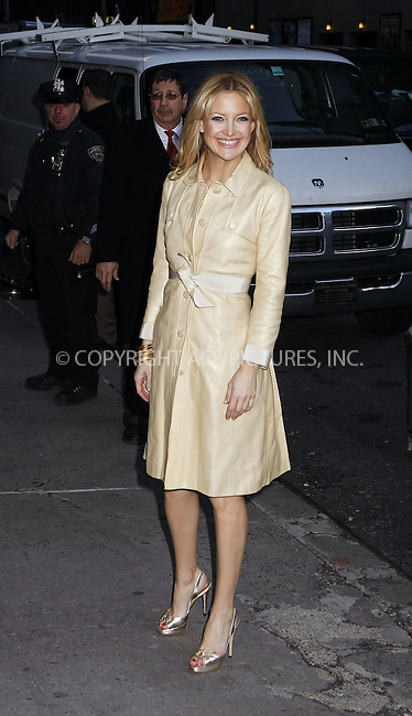 WWW.ACEPIXS.COM . . . . . ....February 7 2008, New York City....Actress Kate Hudson leaving the 'Late Show with David Letterman' at the Ed Sullivan theater in midtown Manhattan.....Please byline:AJ SOKALNER - ACEPIXS.COM.. . . . . . ..Ace Pictures, Inc:  ..(646) 769 0430..e-mail: info@acepixs.com..web: http://www.acepixs.com