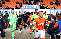 Bradford City's Richard O'Donnell and Blackpool's Jay Spearing<br /> <br /> Photographer Rachel Holborn/CameraSport<br /> <br /> The EFL Sky Bet League One - Blackpool v Bradford City - Saturday September 8th 2018 - Bloomfield Road - Blackpool<br /> <br /> World Copyright &copy; 2018 CameraSport. All rights reserved. 43 Linden Ave. Countesthorpe. Leicester. England. LE8 5PG - Tel: +44 (0) 116 277 4147 - admin@camerasport.com - www.camerasport.com