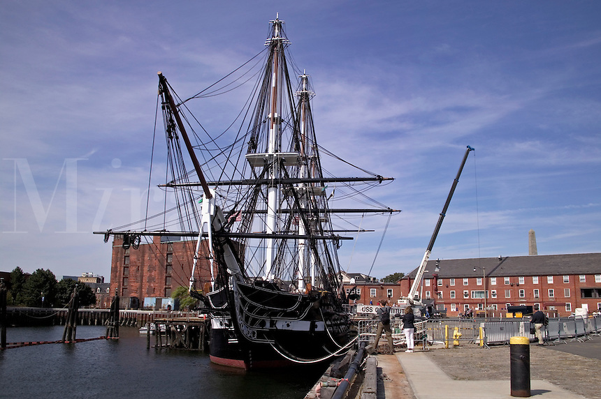 "USS Constitution ""Old Ironsides"" at dock in Charlestown,  MA"