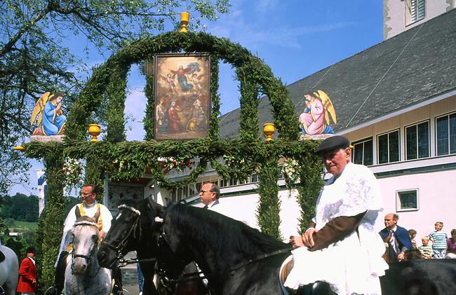 Auffahrtsumritt Celebration, Ascension Thursday, Beromunster, Switzerland
