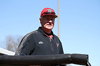 GREENSBORO, NC - FEBRUARY 22: Head coach Bill Currier of Fairfield University during a game between Fairfield and UNC Greensboro at UNCG Baseball Stadium on February 22, 2020 in Greensboro, North Carolina.
