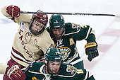 Johnny Gaudreau (BC - 13), Chris McCarthy (UVM - 3) - The Boston College Eagles defeated the visiting University of Vermont Catamounts to sweep their quarterfinal matchup on Saturday, March 16, 2013, at Kelley Rink in Conte Forum in Chestnut Hill, Massachusetts.