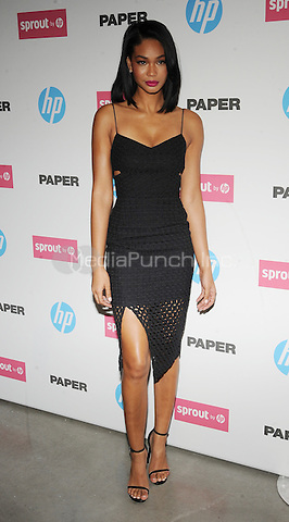 New York,NY- October 29: Chanel Iman attends the red carpet at the Sprout by HP and HP Multi Jet Fusion 3D Printer Launch Event in New York City on October 29,2014.  Credit: John Palmer/MediaPunch