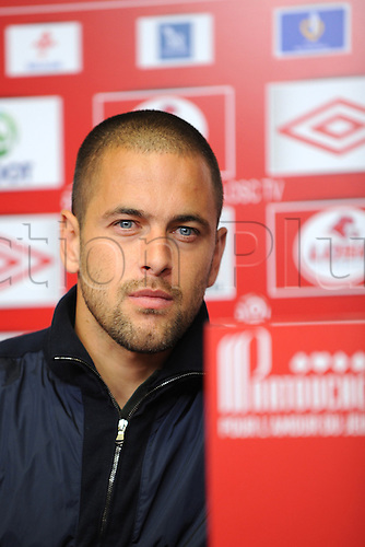 31.08.2011. Lille, France.  Joe Cole signs on loan from Liverpoll FC in England on a one year loan with Lille in the French 1st Division.    Presentation of new signing for Lille..