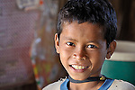 A boy in the Cambodian village of Somrith.