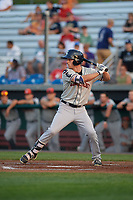 Connecticut Tigers center fielder Luke Burch (29) at bat during a game against the Auburn Doubledays on August 10, 2017 at Falcon Park in Auburn, New York.  Connecticut defeated Auburn 4-1.  (Mike Janes/Four Seam Images)
