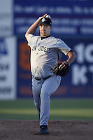 Boof Bonser of the San Jose Giants pitches during a California League 2002 season game against the Lancaster JetHawks at The Hanger, in Lancaster, California. (Larry Goren/Four Seam Images)