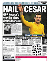 Daily Mail (Back Page) 30-Jan-2013 - 'HAIL CESAR' - Photo by Rob Newell (TGS Photo)