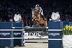 Philipp Weishaupt of Germany riding Lasse K competes in the Longines Grand Prix during the Longines Masters of Hong Kong at AsiaWorld-Expo on 11 February 2018, in Hong Kong, Hong Kong. Photo by Diego Gonzalez / Power Sport Images