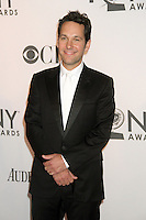 Paul Rudd at the 66th Annual Tony Awards at The Beacon Theatre on June 10, 2012 in New York City. Credit: RW/MediaPunch Inc.