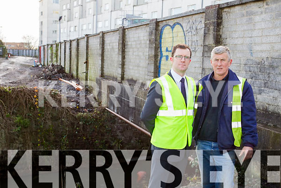 Pictured at the commencement of works of the Community Trail from Oakpark Road to Rock Street, the trail that leads out to Edward Street and Rock Street, which will join up with the skinny mile, are  l-r: Padraig Corkery (Communication Officers, Kerry County Council) and Owen Gleeson (Foreman, Kerry County Council).