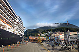 USA, Alaska, Ketchikan, the cruise ship, ms Oosterdam, after entering the Port of Ketchikan
