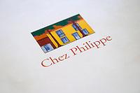 Restaurant Chez Philippe. The menu. Marseillan. Languedoc. France. Europe.