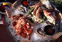 USA, Alaska, Meeresfrüchteteller im Restaurant The Pumphouse in Fairbanks