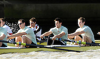 Putney. GREAT BRITAIN,  right to left, Jacob (Jake) CORNELIUS, Tom JAMES (President), Kieran WEST, during the Cambridge University  vs German National Eight race,  raced over the Boat Race Course, on the River Thames, London, on Sat.  03.03.2007,  [Photo Peter Spurrier/Intersport Images] .crew: Peter CHAMPION,.  [Mandatory Credit, Peter Spurier/ Intersport Images]. , Rowing Course: River Thames, Championship course, Putney to Mortlake 4.25 Miles, , Varsity Boat Race.