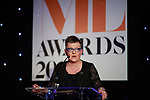 © Joel Goodman - 07973 332324 . 01/03/2018 . Manchester , UK . FRAN ECCLES-BECH opens the ceremony . The Manchester Evening News Legal Awards at the Midland Hotel in Manchester City Centre . Photo credit : Joel Goodman
