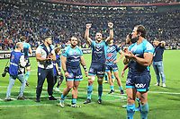 Louis Picamoles of Montpellier and Team of Montpellier celebrates the Victory during the Top 14 semi final match between Montpellier Herault Rugby and Lyon on May 25, 2018 in Lyon, France. (Photo by Alexandre Dimou/Icon Sport)