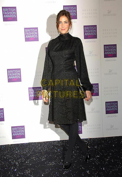 LISA SNOWDON.Arriving at the British Fashion Awards 2007 at the Horticulutral Hall London, Engalnd, .27th November  2007..full length black dress.CAP/CAS.©Bob Cass/Capital Pictures.