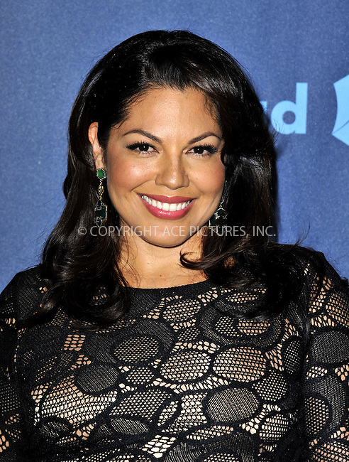 WWW.ACEPIXS.COM......April 20, 2013, Los Angeles, CA.....Sara Ramirez arriving at the 24th Annual GLAAD Media Awards held at the JW Marriott Los Angeles at L.A. LIVE on April 20, 2013 in Los Angeles, California. ..........By Line: Peter West/ACE Pictures....ACE Pictures, Inc..Tel: 646 769 0430..Email: info@acepixs.com
