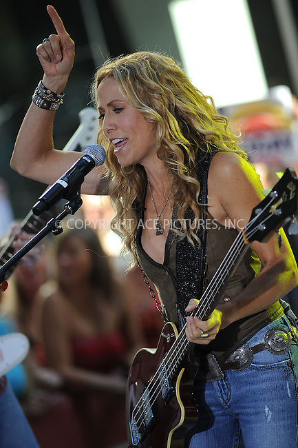 WWW.ACEPIXS.COM . . . . . ....August 1 2008, New York City....Singer Sheryl Crow performed live on NBC's 'Today Show' at the Rockefeller Plaza on August 1 2008 in New York City....Please byline: KRISTIN CALLAHAN - ACEPIXS.COM.. . . . . . ..Ace Pictures, Inc:  ..(646) 769 0430..e-mail: info@acepixs.com..web: http://www.acepixs.com