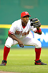 12 June 2006: Alfonso Soriano, outfielder for the Washington Nationals, warms up prior to a game against the Colorado Rockies at RFK Stadium, in Washington, DC. The Nationals fell to the Rockies 4-3 in the first game of the four game series...Mandatory Photo Credit: Ed Wolfstein Photo..