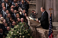 December 5, 2018 - Washington, DC, United States: Former President George W. Bush provides a eulogy at the state funeral service of his father, former President George W. Bush at the National Cathedral.  <br /> <br /> CAP/MPI/RS<br /> &copy;RS/MPI/Capital Pictures