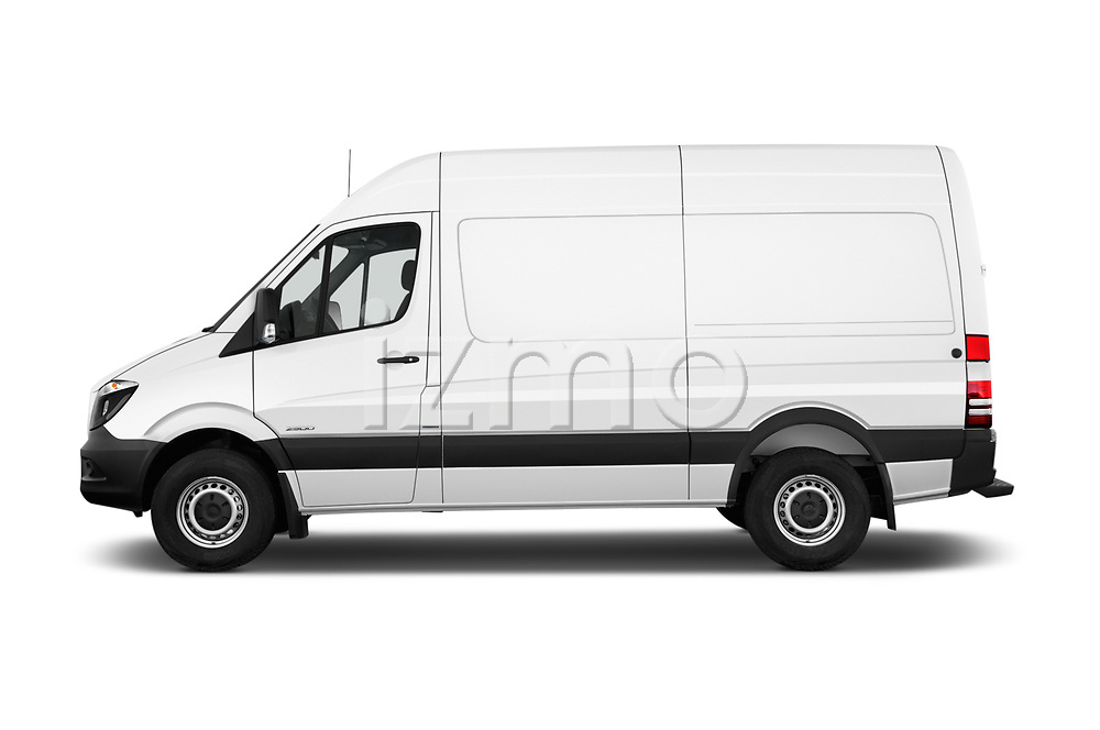 Car driver side profile view of a 2017 Mercedes Benz Sprinter Base 4 Door Cargo Van