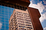 Urban Reflections #4, refelctions in windows of Federal Building: Dayton Ohio,