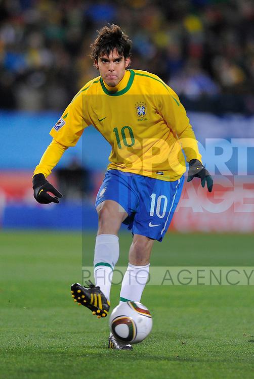 Kaka of Brazil Group G match at Ellis Park, Johannesburg