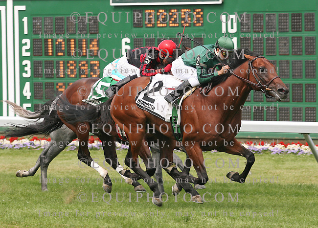 Laureate Conductor #2 with Joe Bravo riding won the Choice Stakes at Monmouth Park in Oceanport, N.J. on July 5, 2009.  Photo By Jessica Denver/EQUI-PHOTO