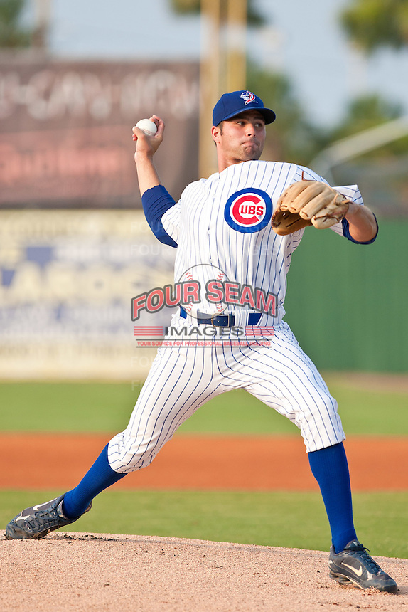 Kenneth (Trey) McNutt of the Daytona Cubs during the game against the Daytona Cubs July 9 2010 at Jackie Robinson Ballpark in Daytona Beach, Florida. Photo By Scott Jontes/Four Seam Images