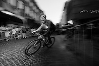 Chris Froome (GBR/SKY) racing the Mechelen cobbles<br /> <br /> Post-Tour Criterium Mechelen 2015