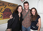 'Bonnie & Clyde' Cast Reunion: Melissa Van Der Schyff, Claybourne Elder & Laura Osnes.backstage after the Opening Night Performance of New York City Center Encores! 'Pipe Dream'  in New York City on 3/28/2012.
