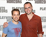 T.R. Knight and playwright Samuel D. Hunter attend the 'Pocatello' Meet & Greet at Playwrights Horizons on October 21, 2014 in New York City.