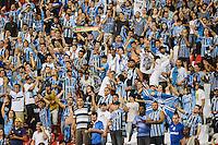 RIO DE JANEIRO, RJ, 22 JULHO 2012 - CAMP. BRASILEIRO - BOTAFOGO X GREMIO -  Torcedores do Gremio comemoram gol contra o Botafogo em jogo pela 11 Rodada do Campeonato Brasileiro,marcando a estreia do jogador Seedorf, do Botafogo, no estadio Engenhao, neste domingo, 22. (FOTO: MARCELO FONSECA / BRAZIL PHOTO PRESS).