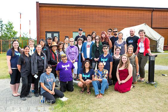 Adaka Cultural Festival 2016, Whitehorse, Yukon, Canada, Yukon First Nation Culture and Tourism Association, Kwanlin Dun Cultural Centre, festival staff team