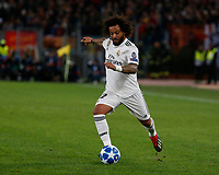 Marcelo of Real Madrid  during the Champions League Group  soccer match between AS Roma - Real Madrid  at the Stadio Olimpico in Rome Italy 27 November 2018